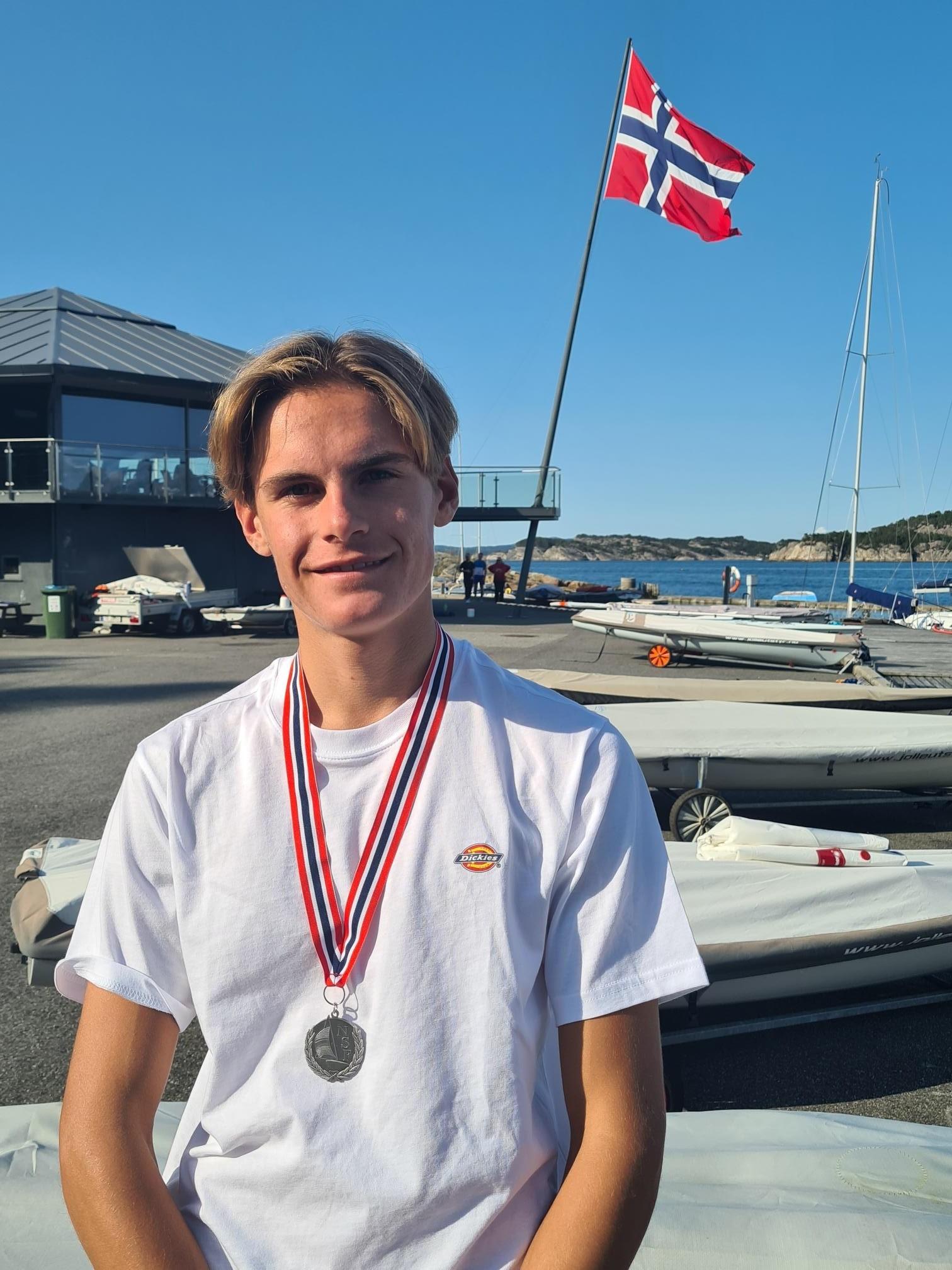 NM sølv til Erik Bøen, Ålesunds Seilforening