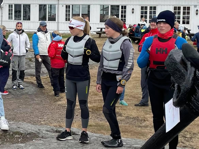 Pia og Nela seilte Norges Cup i Tønsberg i helgen.